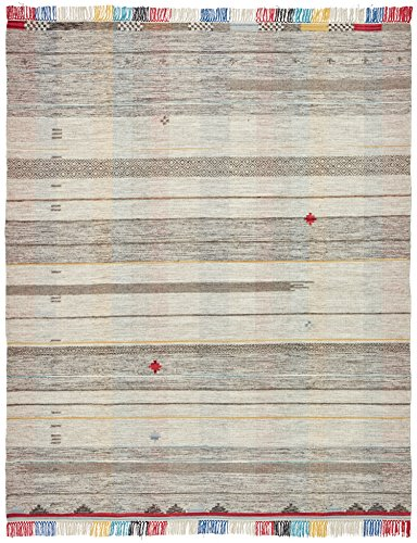 Stone & Beam Contemporary Colorful Fringe Wool Rug, 8' x 10', Tan Multi by Stone & Beam