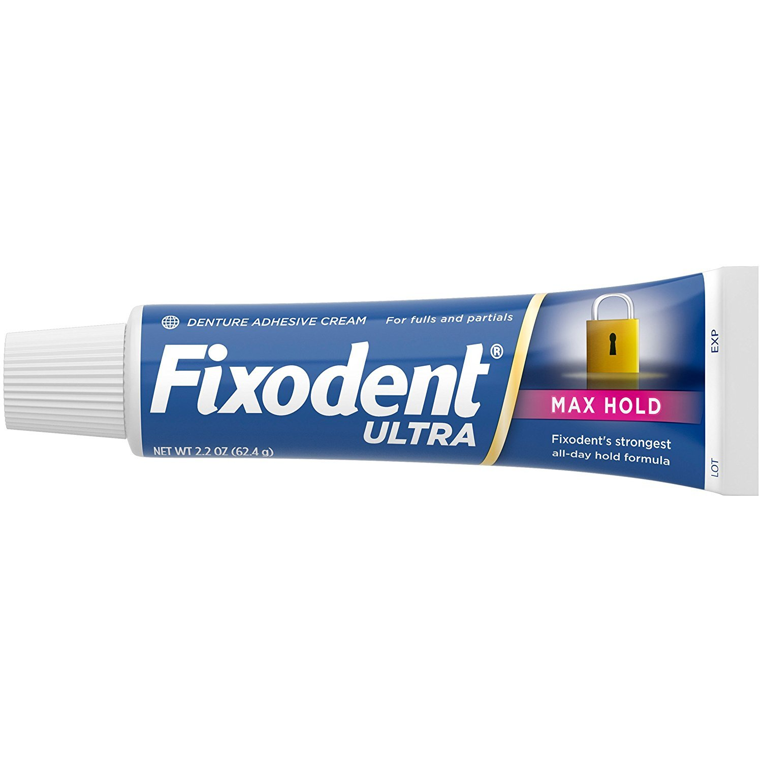 Fixodent Fixodent Ultra Max Hold Dental Adhesive, 2.2 Ounce - Pack of 2
