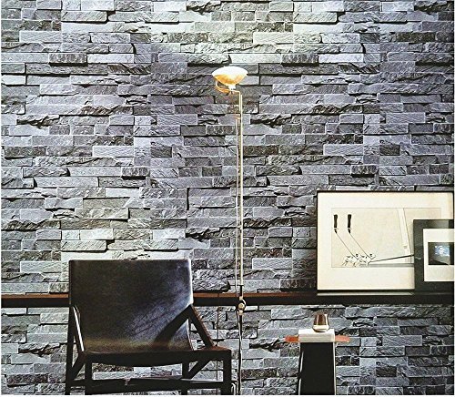 Blooming Wall Faux Stone Brick Wall Mural Wallpaper Vinyl for