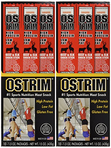 Ostrim Habanero Beef & Elk Snack Stick 1.5 oz - 10 ct(Pack of 2)