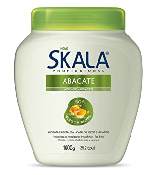 Skala Brazilian Hair Treatment Cream Avocado 35oz | Creme de Tratamento Abacate 1kg