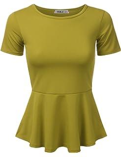 ede56108f2d160 Allegra K Women s Off Shoulder Long Sleeves Slim Fit Peplum Top at ...