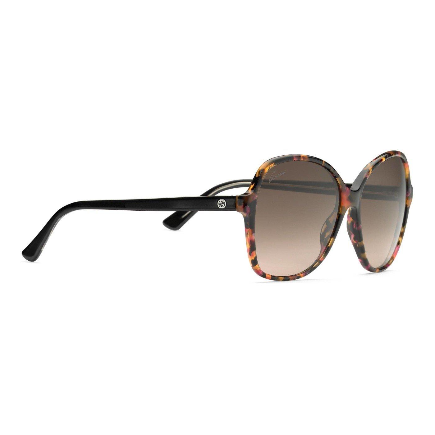 d32f643403 Gucci Women s Violet Orange GG 3721 S Brown Lens Lightweight Acetate  Sunglasses  Amazon.co.uk  Clothing