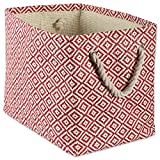 DII Storage Basket or Bin, Collapsible & Convenient Storage Solution for Office, Bedroom, Closet, Toys, Laundry(Small) - Rust Geo Diamond
