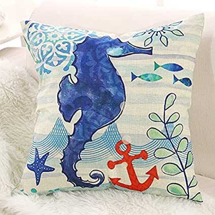 decorative pillow cases covers ocean sealife crab cushion cover US SELLER