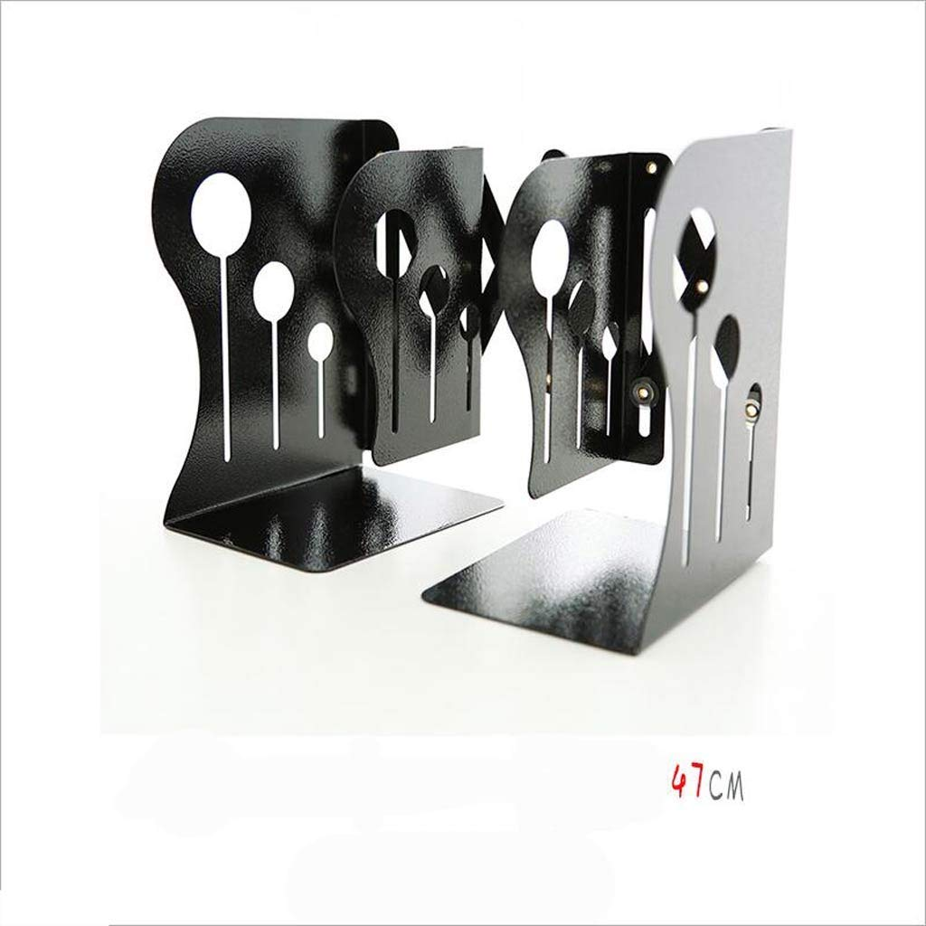 YCT オフィス学生調節可能な本棚折りたたみ本棚本ブロック本立法鉄 (Color : Blackb) B07R9N6FS3 Blackb
