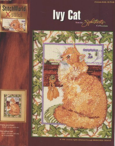 Ivy Cat from the Sophisticats Cross Stitch Collection ()