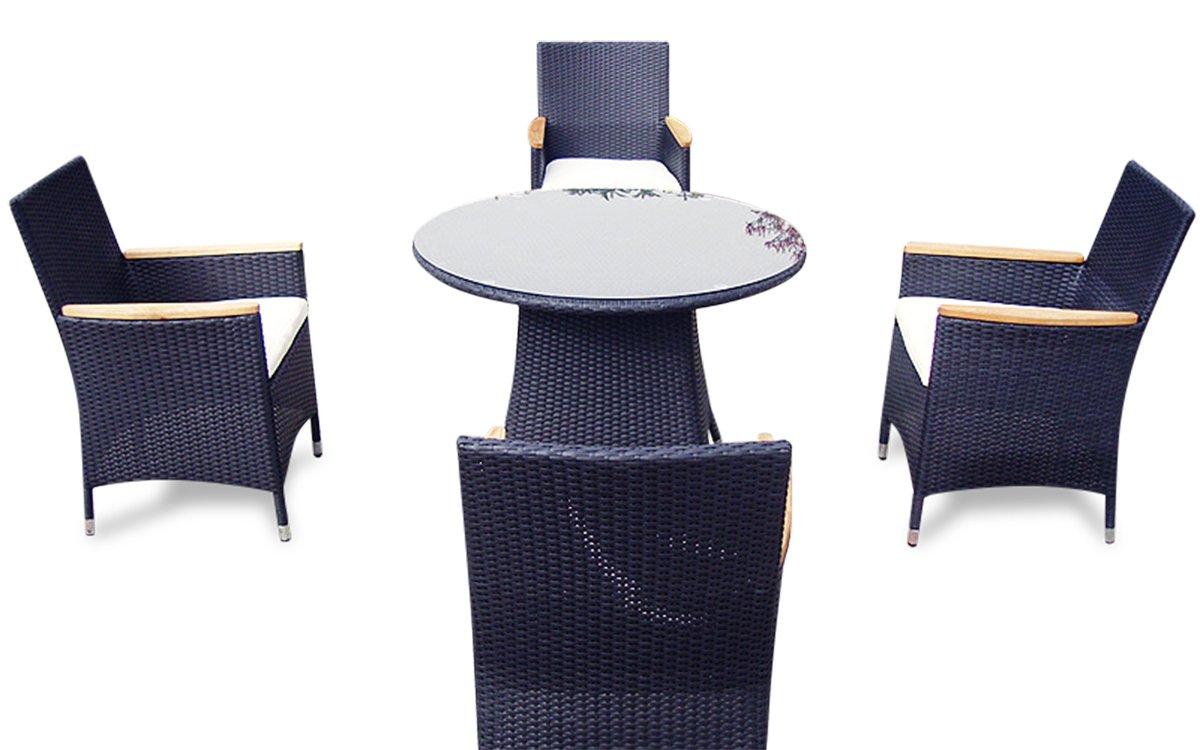 Polyrattan Loungemöbel LAS VEGAS | Hotel 1 Qualität (Schwarz)