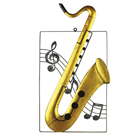 Amazon.com: Instrument Metal Hanging Wall Art, Saxophone: Posters ...