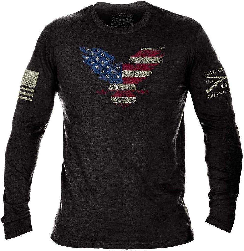 Grunt Style Freedom Eagle Men's Long Sleeve T-Shirt