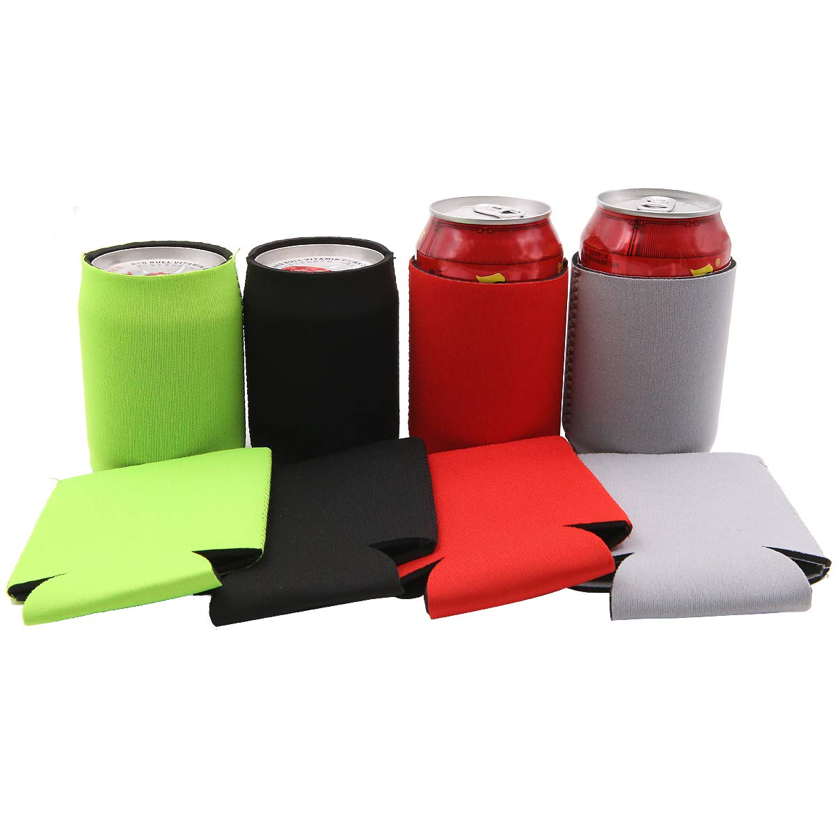 Insulated can Cooler Sleeve can Koozie pieghevole neoprene soda pu/ò isolante drink Coolies per 0,33l Beer festival 8/pz