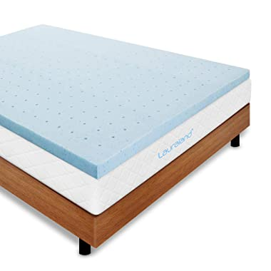Lauraland Mattress Topper, Gel-Infused Memory Foam Mattress Topper with Cooling Technology(2inch Twin)