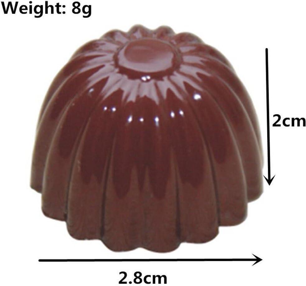 Vak 24/cavit/és en forme de fleur Moule /à chocolat en polycarbonate carr/és Candy Plateau Jelly Dessert Moule dinjection de rigide PC Chocolat Moules Bakeware Pan/ /27.5/x 13.5/x 2.4/cm