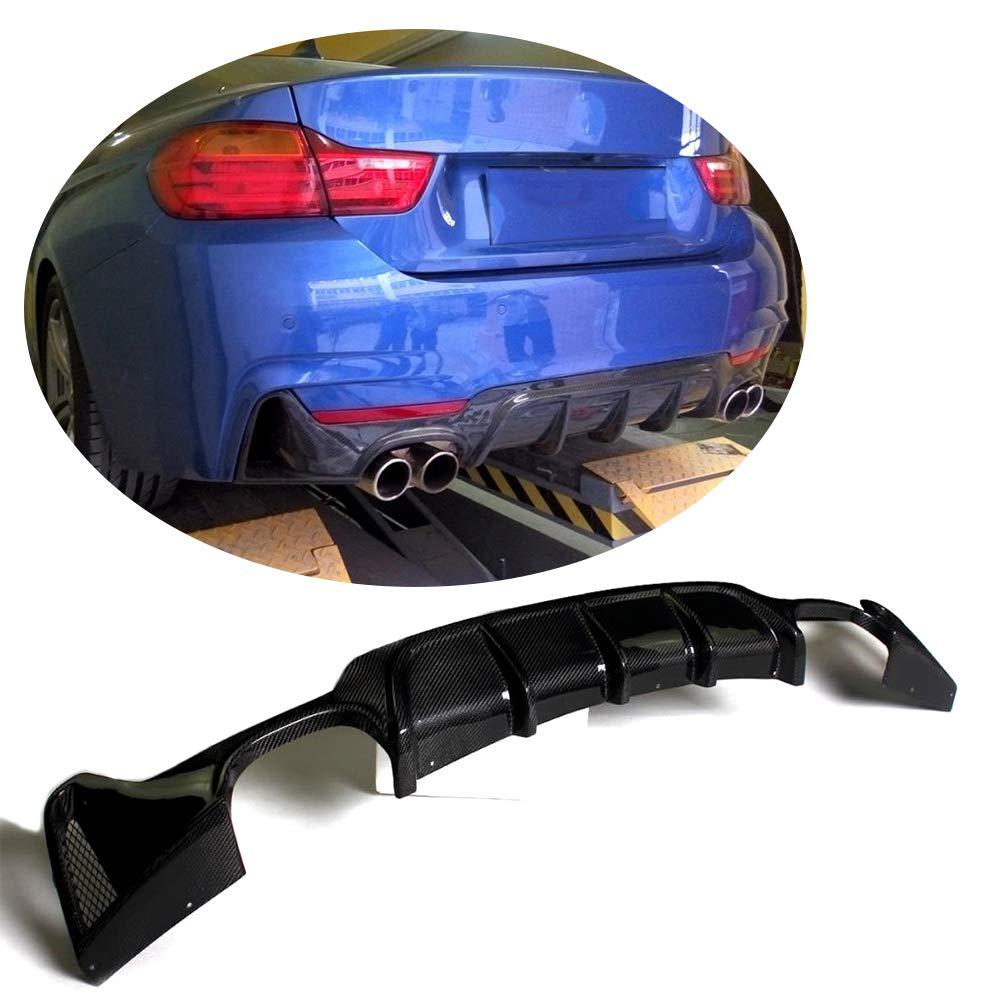 MCARCAR KIT Rear Diffuser fits BMW 3 Series E46 M3 Coupe Convertible 2000-2006 Customized Half Carbon Fiber CF Lower Bumper Lip Spoiler Body Kit