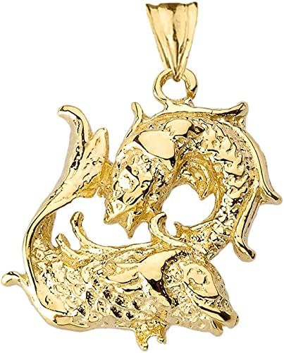 LA BLINGZ 14K Polished Rose Gold Rhino Necklace