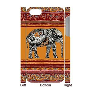 Custom New Case for Iphone 4,4S 3D, Indian Elephant Phone Case - HL-R644338