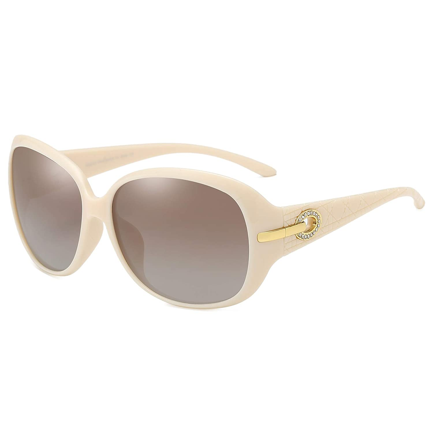 c732a7ce50 Amazon.com  DUCO Women s Classic Stylish Designer Oval Polarized Sunglasses  100% UV400 Protection 6214  Shoes