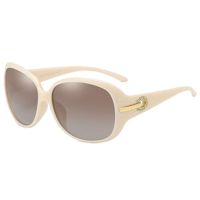 Duco gafas de sol de la mujer Classic grande polarizadas gafas de sol 100% UV