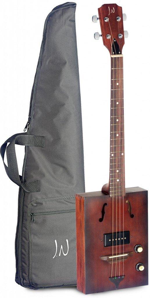 Eléctrico Acústica de puro Cajas de guitarra con 4 cuerdas, Massive Tapa de pícea, también Delta de guitarra de blues, cbg-3 de guitarra: Amazon.es: ...