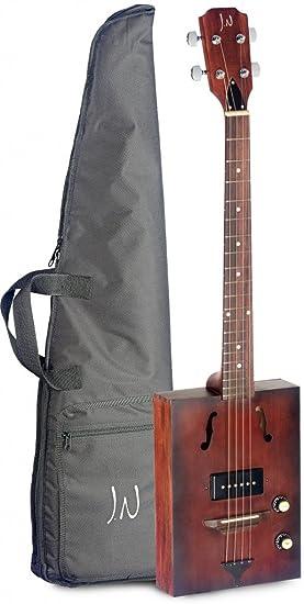 Eléctrico Acústica de puro Cajas de guitarra con 4 cuerdas, Massive Tapa de pícea,