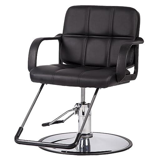 Black Classic Hydraulic Chair