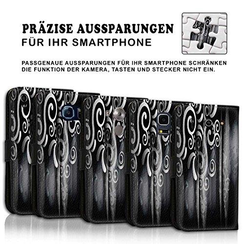 Wallet Book Style Flip Handy Tasche Case Schutz Hülle Schale Motiv Etui für Apple iPhone 4 / 4S - Design Flip MVD354