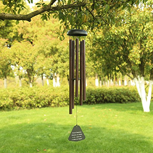 AUCHEN Large Wind Chimes Outdoor Deep Tone,36' Large Wind Chimes Amazing Grace Tuned Deep Sounding Melody,Sympathy Wind Chimes Memorial for Garden Patio Home Housewarming Decor,Brozen
