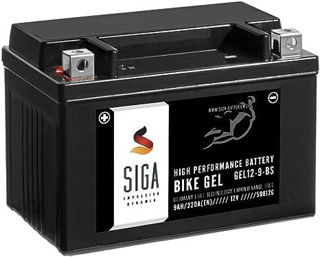 Siga Gel Motorradbatterie 12v 9ah 220a En Gel Batterie Ytx9 Bs Gel12 9 Bs Ytx9 4 Gtx9 Bs Etx 9 Bs 50812 Auto
