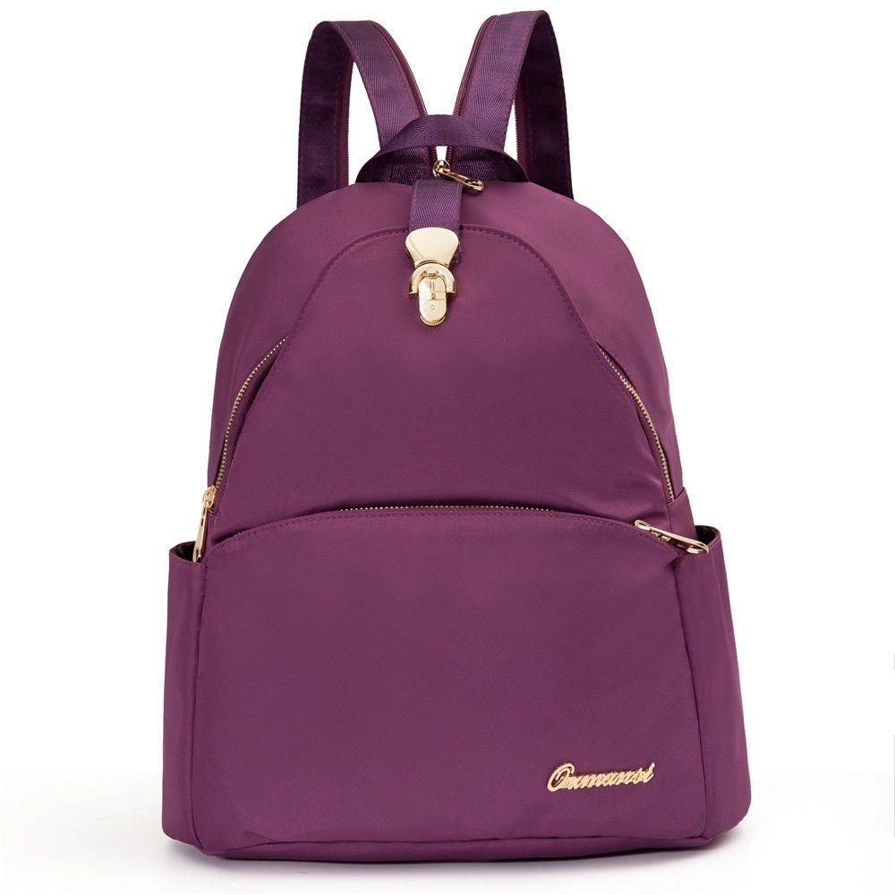 0d6d6cec6d0b Amazon.com: MSZYZ Ladies backpack portable waterproof nylon all ...