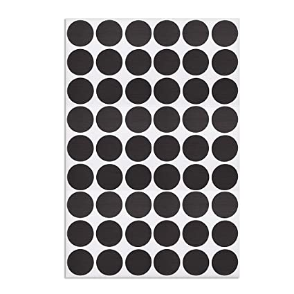 ,2-Table Self-adhesive Screw Covers Caps Sticker 21mm 54 in 1 Black Lines