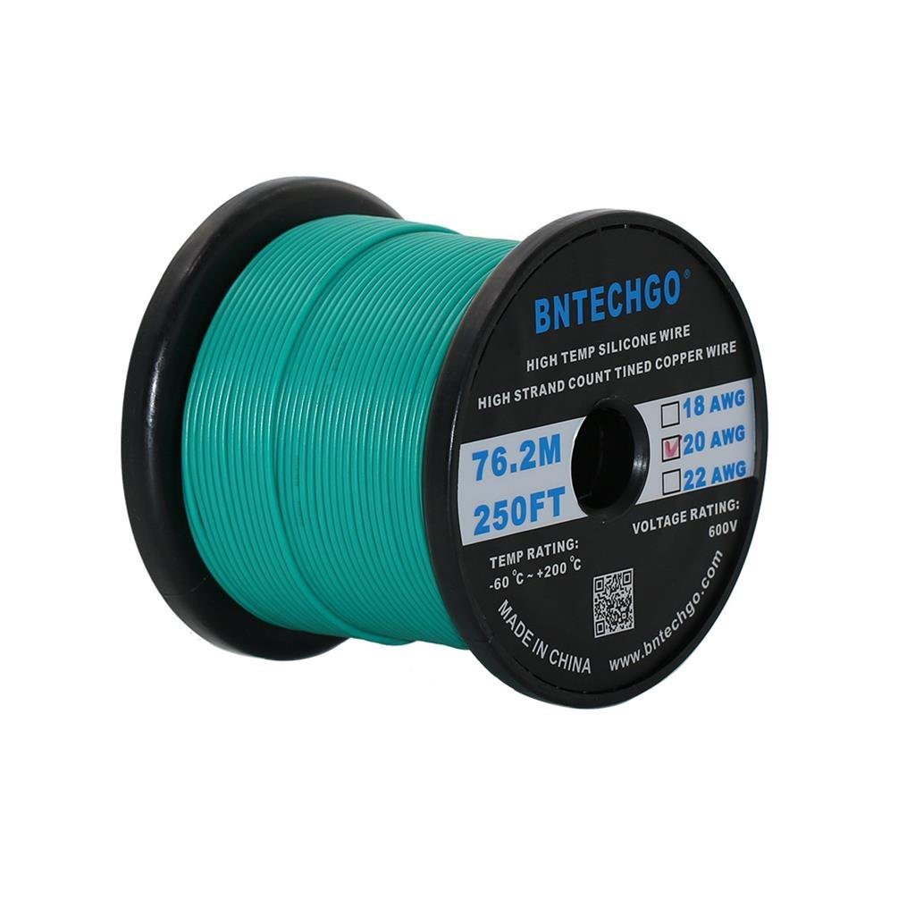BNTECHGO® 20 Gauge Silicone Wire 250 Feet Orange Soft and Flexible ...