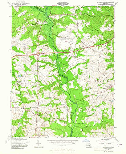 YellowMaps Davidsonville MD topo map, 1:24000 scale, 7.5 X 7.5 Minute, Historical, 1957, updated 1965, 26.8 x 22 IN - (Queen Anne Pin)