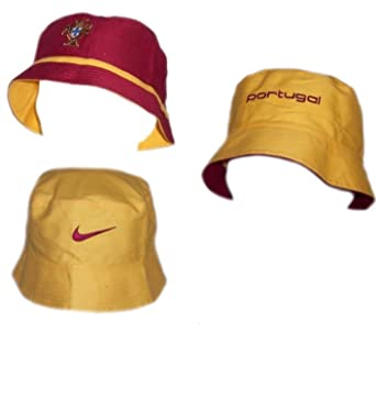 317be099198 Nike Portugal Mens Hat Official Football Hat Reversible Bucket Hat Burgundy  Yellow Size L XL New 567546  Amazon.co.uk  Clothing
