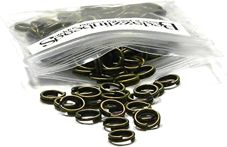 6mm 7mm 8mm Findings 200 x Gold Plated Double Loop Split Rings 5mm