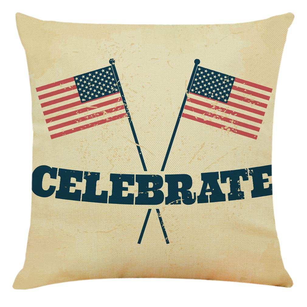 Doomfist Independence Day Pillow Covers 18 x 18 Inches Set of 4 Decorative Couch Pillow Decorative Couch Pillow Cases Cotton Linen Pillow Square Cushion Cover Festival Throw Pillow Case