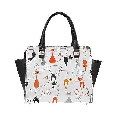 c63ecb3e71fd Amazon.com: InterestPrint Cats Pattern Purses Cross Body Handbags ...