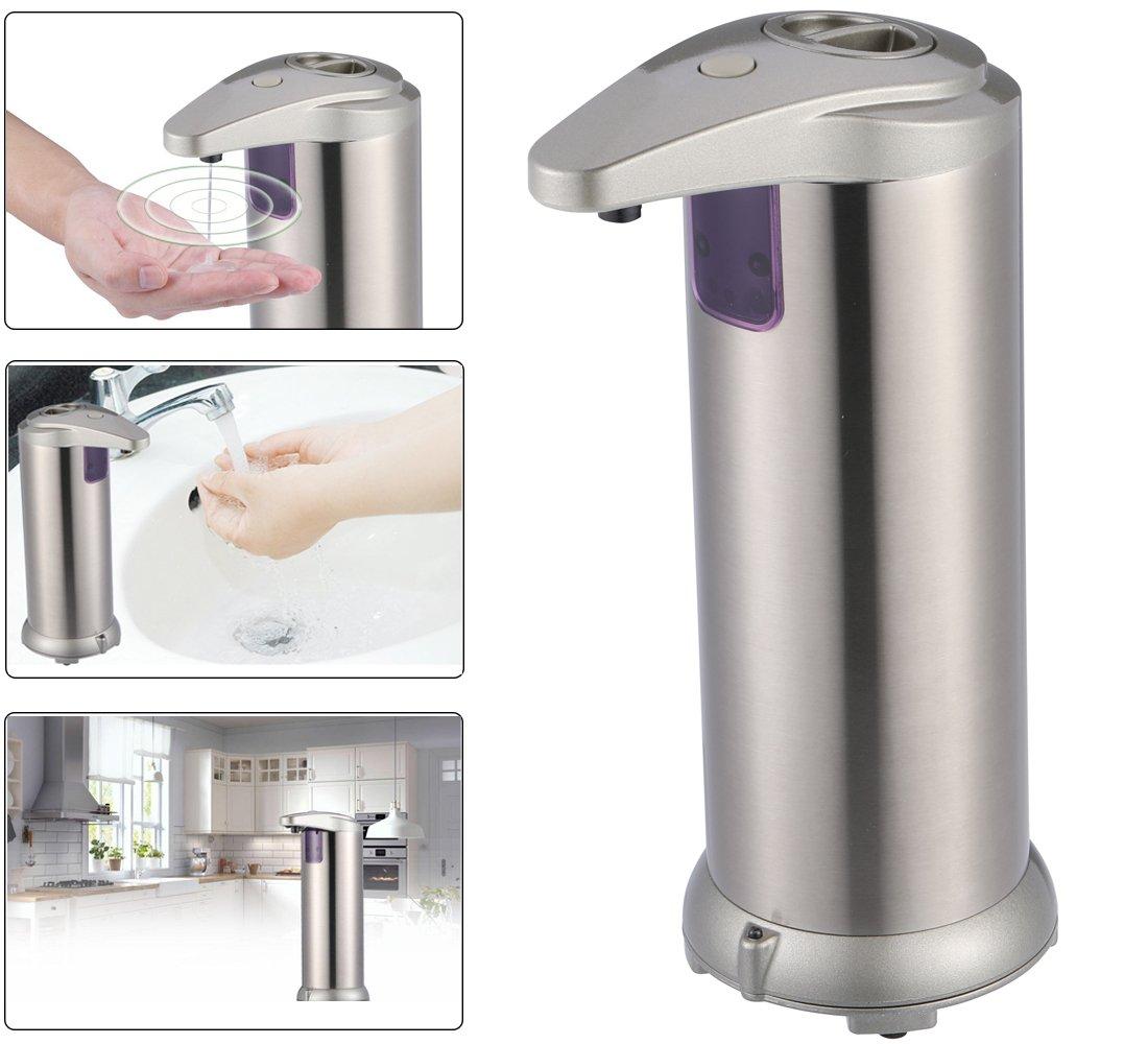 Distributore Automatico di Sapone Liquido Contactless Il piano d'appoggio Sulla Base Impermeabile Acciaio Inossidabile per Cucina Bagno per Disinfettante Shampoo Emulsione Ymstarco