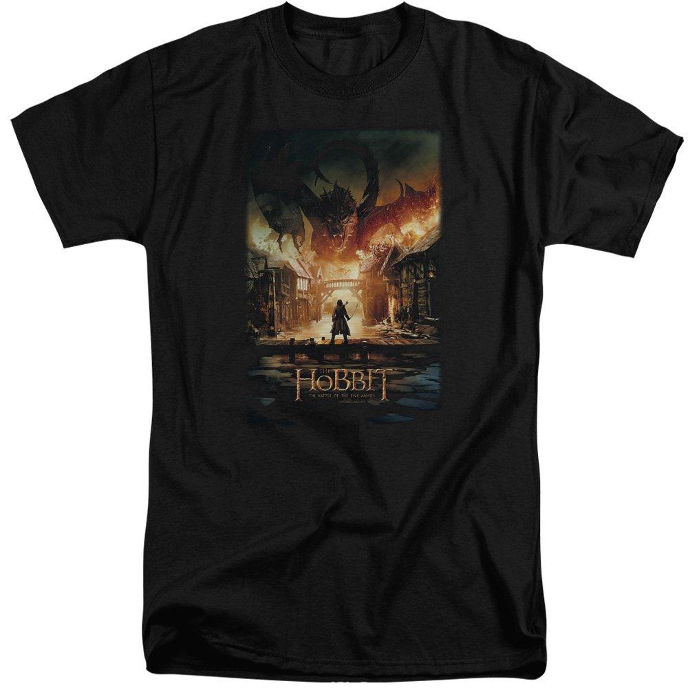 MMM Merchandising Hobbit Mens Smaug Poster Tall T-Shirt