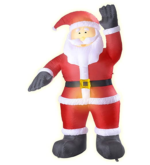 Import Papá Noel Hinchable Luminoso Gigante 2,44 Metros decoración ...