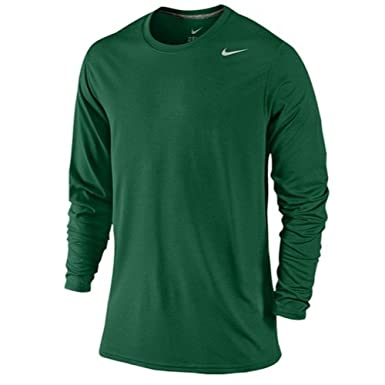 5f09e8810 NIKE Mens Legend Poly Long Sleeve Dri-Fit Training Shirt Green ...