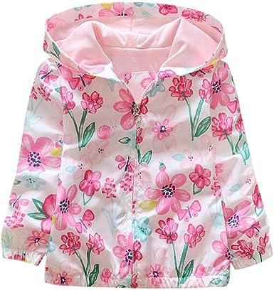 Yannerr Bebé niña camiseta tops Viento cremallera Abrigo ...