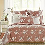 Calla Angel Rose Melody Luxury Pure Cotton Quilt By Calla Ange, King, Marsala