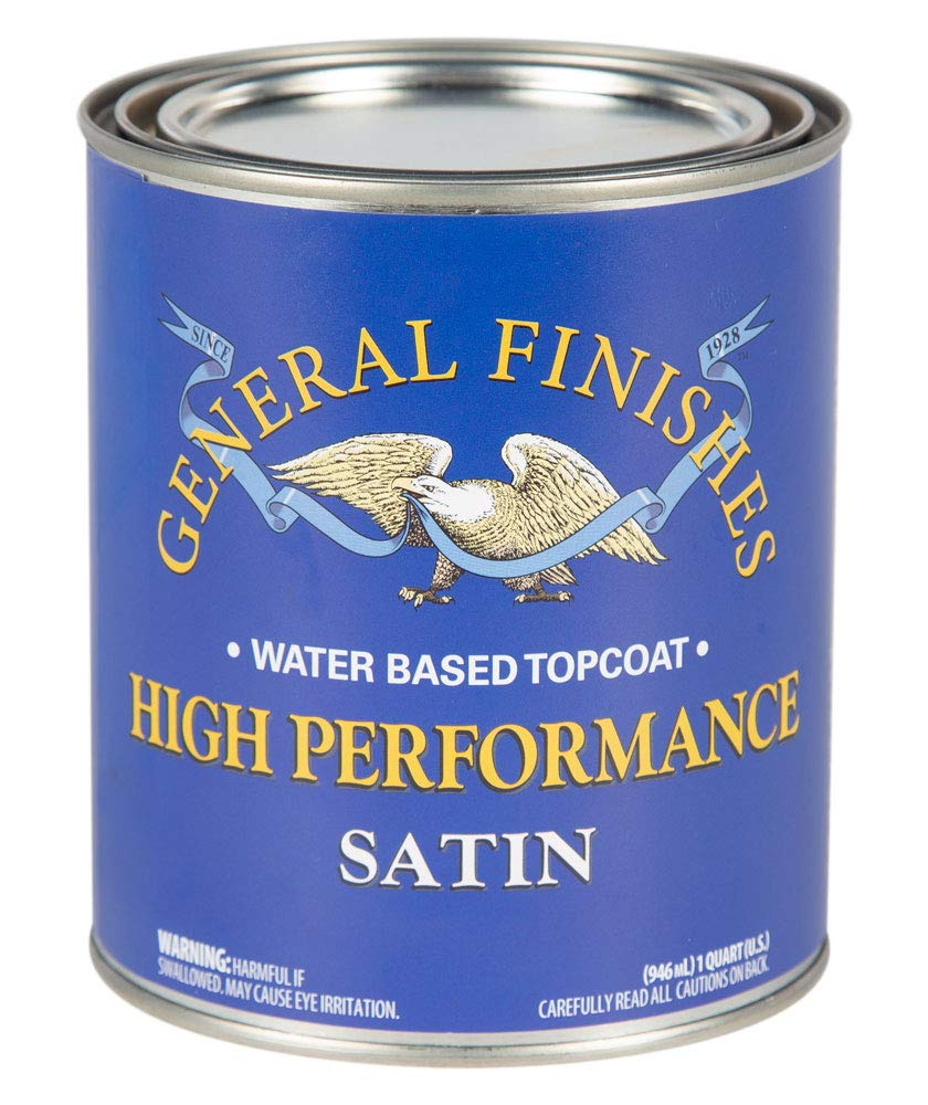 General Finishes PTHS High Performance Water Based Topcoat, 1 Pint, Satin