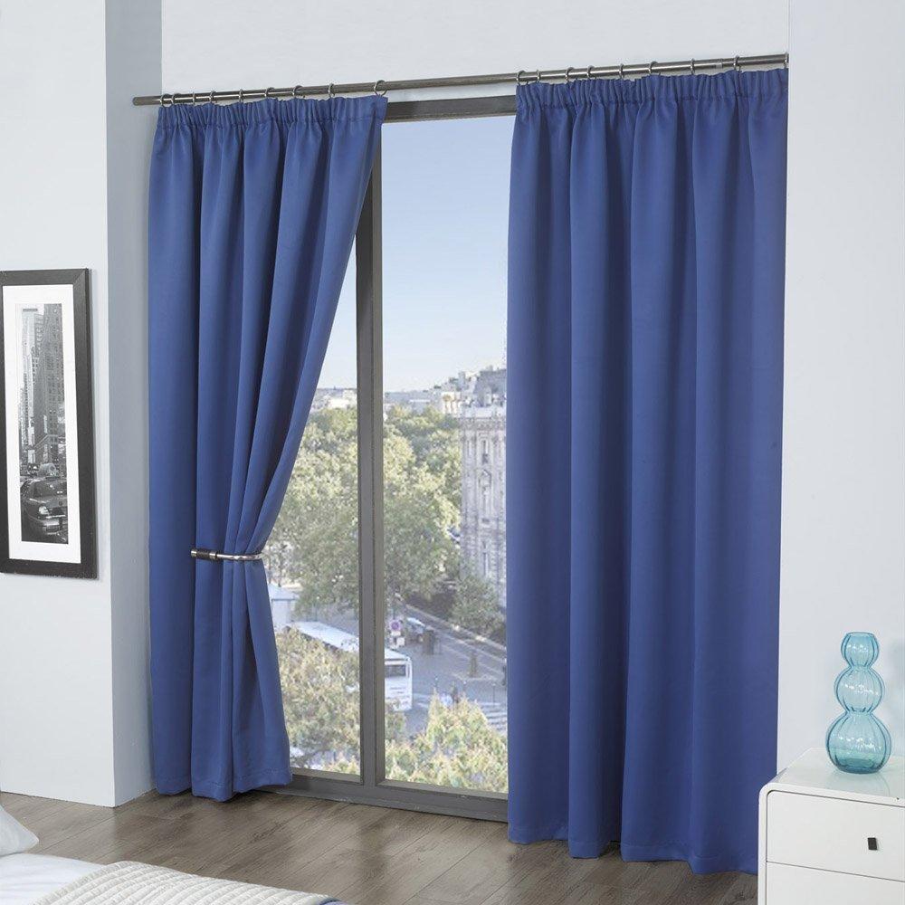 Cortine Lisa Louisiana Bedding Colore Blu 117 x 137 cm