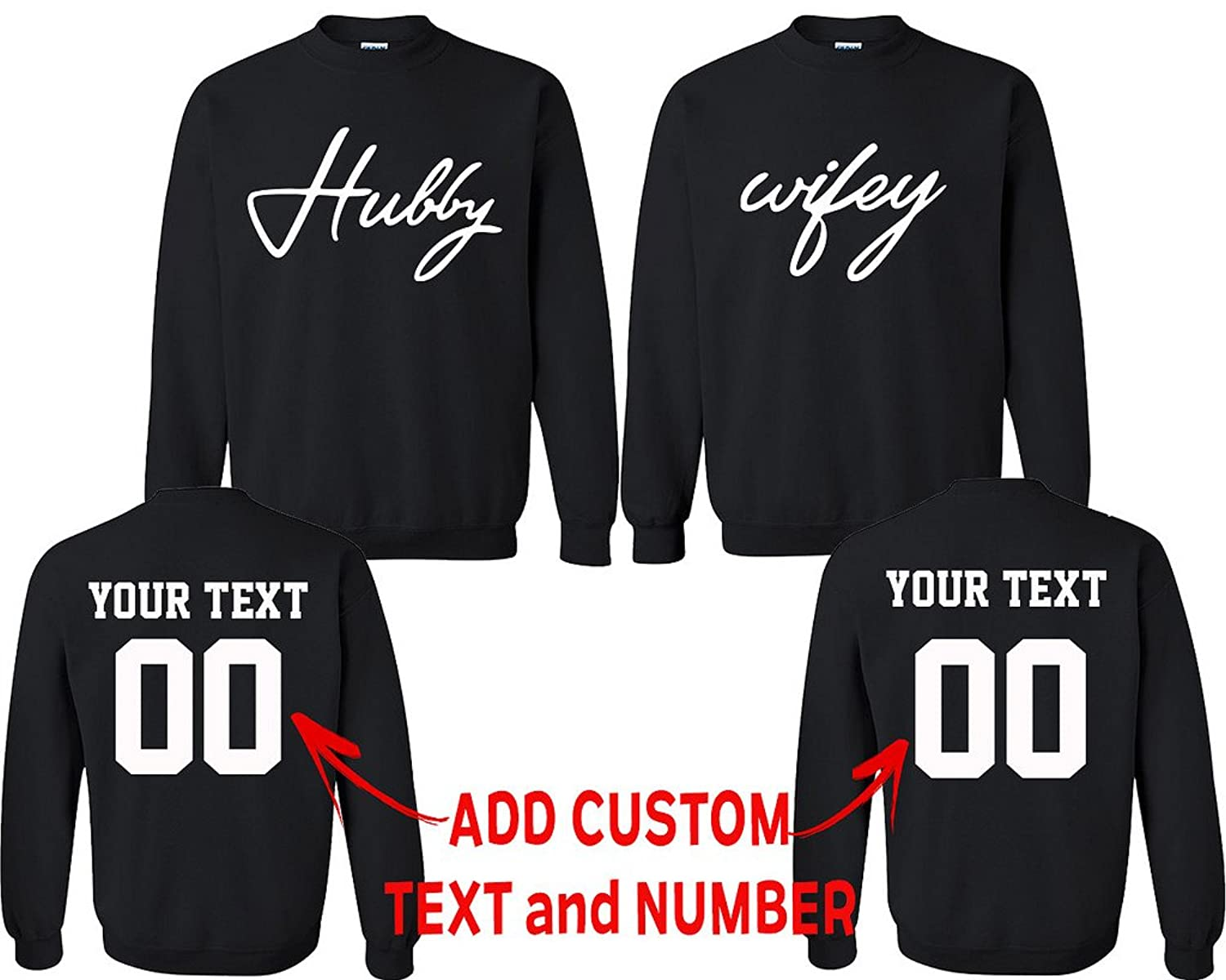 6eb71f7b88 Online Cheap wholesale CRAZYDAISYWORLD Hubby Wifey Pattern Customized Text  Name Design Couple Hoodie, Crewneck Sweatshirt, Hoodies Suppliers