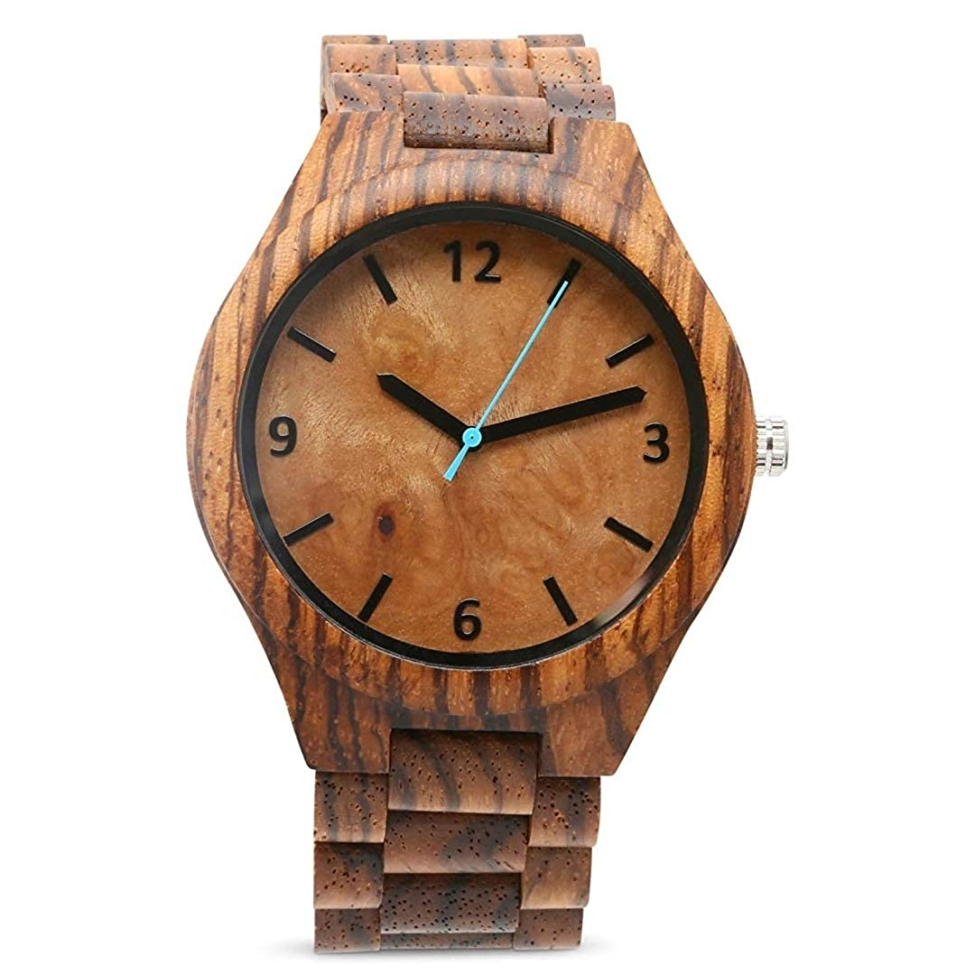 Reloj de madera vegano, de SD Business Solutions, con mecanismo miyota japonés: Amazon.es: Relojes