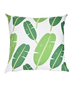 Makeupstore 2019 Fashion Comfortable Pillow Cases, Green Leaf Print Super Soft Plush Decorative Pillowcases for Sofa Car Cushion Cover Home Decor (18 x 18 Inch)