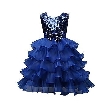 baf2865ee5f3 Feitong Toddler Baby Girls Kids Dress Bowknot Wedding Bridesmaid Party  Wedding Tutu Princess Pageant Dress