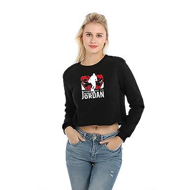 FLAMINGO_STORE Hooides Short Sweatshirts Women Hip Hop Streetwear Long Sleeve Hoody Clothing Black