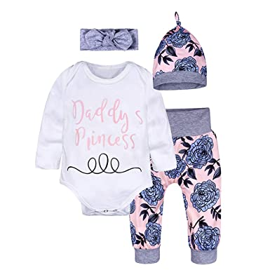4e3e7cf84e4a Decha Christmas Outfits Baby Boys Girls My First Christmas Rompers with  Xmas Hat Clothes Set